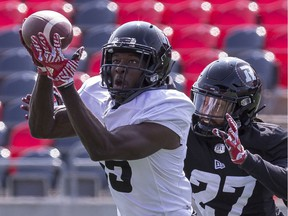 Receiver Tyrone Pierre, who's from Ottawa and played at Laval, was among the players cut by the Redblacks on Friday, June 7, 2019.