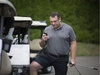 TECUMSEH, ONT:. JULY 30, 2019 - D.J. Smith, the new head coach of the Ottawa Senators, conducts some business before hitting the links at Beach Grove Golf and Country Club in Tecumseh, Ont., Tuesday, July 30, 2019.  (DAX MELMER/Windsor Star) ORG XMIT: POS1907311323548029