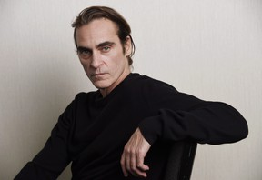Joaquin Phoenix poses for a portrait at the Adelaide Hotel during the Toronto International Film Festival. (Chris Pizzello/Invision/AP)