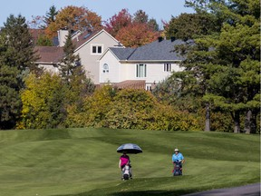 Golfers play at Kanata Golf and Country Club. ClubLink has submitted to city hall its controversial planning application to redevelop 71 hectares of land at the Kanata Golf and Country Club. October 8, 2019.