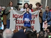 Climate change environmental teen activist Greta Thunberg joins a climate strike march in Iowa City, Iowa, U.S. October 4, 2019. REUTERS/Daniel Acker ORG XMIT: GGG-IOW105