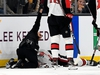 Nov 2, 2019; Boston, MA, USA; Medical staff attend to Ottawa Senators right wing Scott Sabourin (49) who was injured during the first period against the Boston Bruins at the TD Garden. Mandatory Credit: Brian Fluharty-USA TODAY Sports ORG XMIT: USATSI-405200