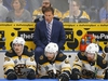 June 9, 2019; St. Louis, MO, USA;  Boston Bruins head coach Bruce Cassidy against the St. Louis Blues during the second period in game six of the 2019 Stanley Cup Final at Enterprise Center. Mandatory Credit: Billy Hurst-USA TODAY Sports ORG XMIT: USATSI-404636
