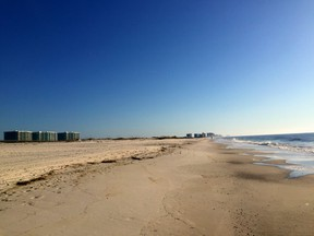 The white sand beaches in Alabama are much quieter than typical Florida beaches