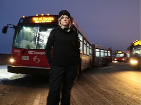OC Transpo driver Jamie Bailey is an OC Transpo bus driver who has refused to wear her uniform on the job. She says drivers are being harassed because of travellers' frustration with LRT.  Tony Caldwell