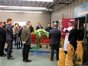 Funeral party for Thomas Cavanagh.