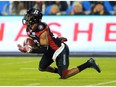 Files: Jeff Richards #22 of the Ottawa Redblacks intercepts the ball during the first half of the 104th Grey Cup Championship Game against the Calgary Stampeder on November 27, 2016 in Toronto.