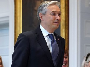 In this file photo taken on Nov. 20, 2019, François-Philippe Champagne is introduced before being sworn-in as Canadian Minister of Foreign Affairs.