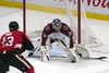 Colorado Avalanche goalie Philipp Grubauer makes a save on a shot from Ottawa Senators winger Nick Paul during their game last week. (USA TODAY SPORTS)