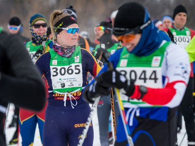 Molly Marland before taking part in the 27 km Classic event at the Gatineau Loppet. February 15, 2020. Errol McGihon/Postmedia