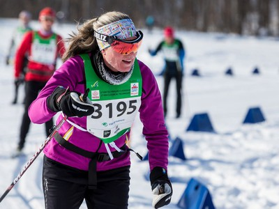 Cindy Courtemanche competing in the 27 km Classic event at the Gatineau Loppet. February 15, 2020. Errol McGihon/Postmedia