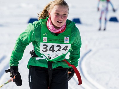 Rosalie Vigneron competing in the 27 km Classic event at the Gatineau Loppet. February 15, 2020. Errol McGihon/Postmedia