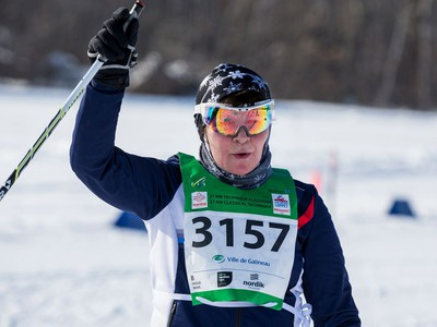 Inita Ozolina from Latvia competing in the 27 km Classic event at the Gatineau Loppet. February 15, 2020. Errol McGihon/Postmedia