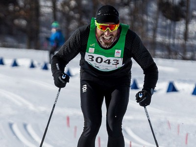 Philippe Quessy of Drummondville, Quebec was the fastest man in the 27 km Classic event at the Gatineau Loppet. February 15, 2020. Errol McGihon/Postmedia