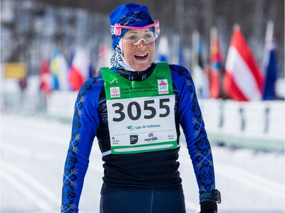 Jillian Flower from Collingwood, Ontario was the fastest woman in the 27 km Classic event at the Gatineau Loppet. February 15, 2020. Errol McGihon/Postmedia