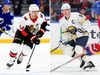 Jean-Gabriel Pageau of the Ottawa Senators (left) and Jack Eichel of the Buffalo Sabres  Mike Ehrmann/Getty Images; Timothy T. Ludwig/USA TODAY Sports