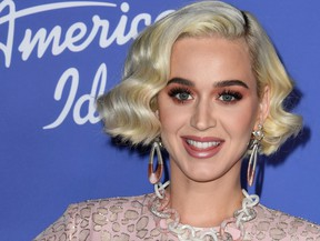 "Katy Perry attends the premiere event for ""American Idol"" hosted by ABC at Hollywood Roosevelt Hotel on Feb. 12, 2020 in Hollywood, Calif. (Jon Kopaloff/Getty Images)"