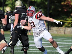 The Ottawa Redblacks took Brown University defensive lineman Michael Hoecht with the 10th overall pick of Thursday's CFL Draft.