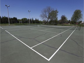 Tennis courts at the Russell Boyd Park in Ottawa.