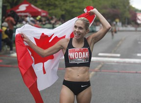 Natasha Wodak won the Canadian women's 10k run at the Ottawa Race Weekend last year.  She will be racing again out of Vancouver.