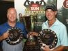 Kyle Koski, left, and Allen McGee winners of the Open Championship pose for a photo at the Ottawa Sun Scramble at the Eagle Creek Golf Club on Sunday, August 25, 2019.  (Patrick Doyle)  ORG XMIT: 0825 sun scramble 18