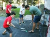 OTTAWA- August 19, 2020 -- L to R: Isaac, Sam, jesse and Sean Bradley play hockey in their driveway.  Hockey family waiting for hockey to resume. Photo by Jean Levac/Postmedia News assignment 134328 Covid