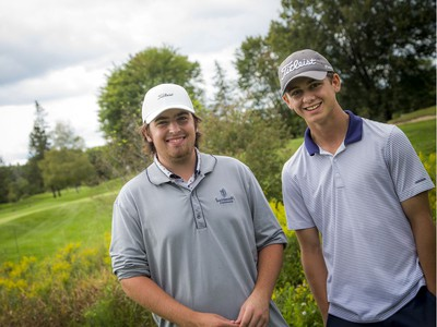 Will Bellamy (left) and Johnathan Rivington, winners of the Kevin Haime Junior Open, at the Ottawa Sun Scramble City Championship Week that wrapped up on Sunday.