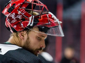 Anders Nilsson's 2019-20 season with the Senators was curtailed because of a concussion in a game last Dec. 16.