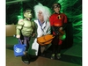 """Mayor Jim Watson poses for a photo with  The Hulk, Dean, 3, and Dash from the Incredibles, Kai, 8 at the """"Trick or Treat with the Mayor"""" Halloween event at City Hall in Ottawa on Saturday, October 26, 2019.   (Patrick Doyle)  ORG XMIT: 1027 mayors halloween 19"""