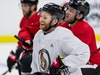 Ottawa Senators right wing Connor Brown smiles at the end of team practice at the Canadian Tire Centre on Monday. March 2, 2020. Errol McGihon/Postmedia