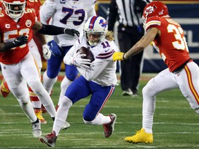 In Sunday's AFC Championship game loss to the Kansas City Chiefs, previously injured Cole Beasley led the Buffalo Bills with seven catches for 88 yards.Getty images