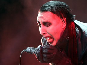 Marilyn Manson performs at the Molson Amphitheatre in Toronto, Aug. 4, 2015.
