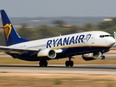 A Ryanair Boeing 737-800 airplane takes off from the airport in Palma de Mallorca, Spain, July 29, 2018.