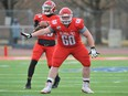 The Ottawa Redblacks selected offensive lineman Matthew Derks in the sixth round of Tuesday's CFL Draft.