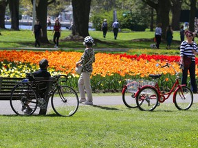 The crowds showed up at Dow's Lake for the Tulip Festival, May 14, 2021. Jean Levac/Postmedia
