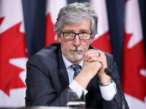Canada's Privacy Commissioner Daniel Therrien takes part in a news conference in Ottawa, April 25, 2019.