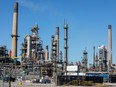General view of the Imperial Oil refinery, located near Enbridge's Line 5 pipeline in Sarnia, Ontario, March 20, 2021.