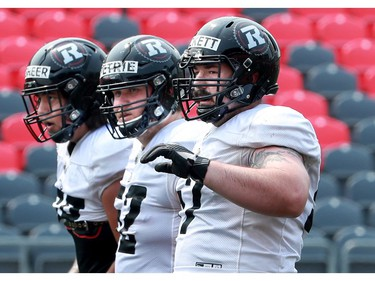 It was hot and sticky as the temperature soared at the Ottawa Redblacks training camp at TD Place Monday.