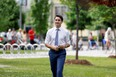 Prime Minister Justin Trudeau arrives to a news conference after visiting a COVID-19 vaccination clinic in Ottawa July 2, 2021.