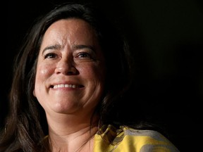Former Canadian Justice Minister and current independent MP Jody Wilson-Raybould addresses supporters at a rally in Vancouver, Canada, September 18, 2019.