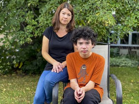 Anja Polisak and her son Declan have been dealing with no bus service for his school.