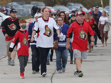 Ottawa Senators fans were excited to take in the home opener against the Toronto Maple leafs at Canadian Tire Centre in Ottawa Thursday.