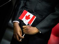 An immigration ceremony in Calgary in January.