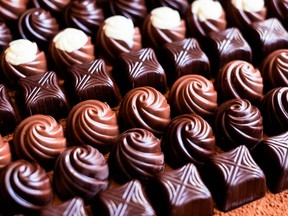 In general, chocolates have a shelf life of as long as a year when properly stored. /