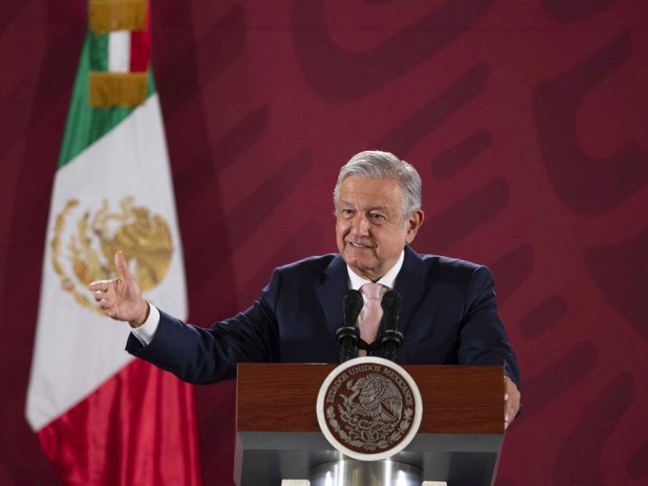 FILE: President Andres Manuel Lopez Obrador speaks during his daily news conference at National Palace in Mexico City, Mexico October 15, 2019. Press Office Andres Manuel Lopez Obrador/Handout via REUTERS ATTENTION EDITORS - THIS IMAGE WAS PROVIDED BY A THIRD PARTY ORG XMIT: TBR01