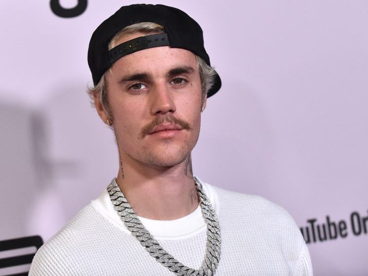 "FILE: Canadian singer Justin Bieber arrives for YouTube Originals' ""Justin Bieber: Seasons"" premiere at the Regency Bruin Theatre in Los Angeles on January 27, 2020."