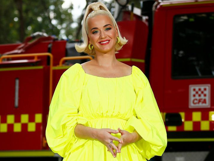 Katy Perry poses for a photograph on March 11, 2020 in Bright, Australia.