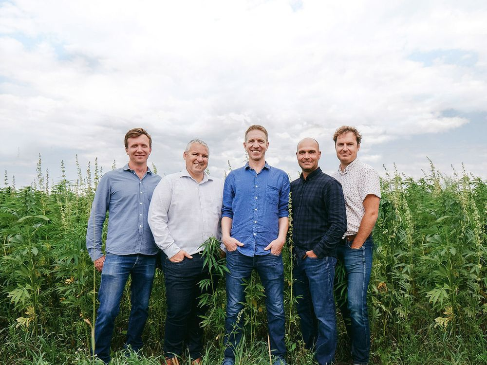 Blue Sky Hemp CEO Andrew Potter and his operation team.