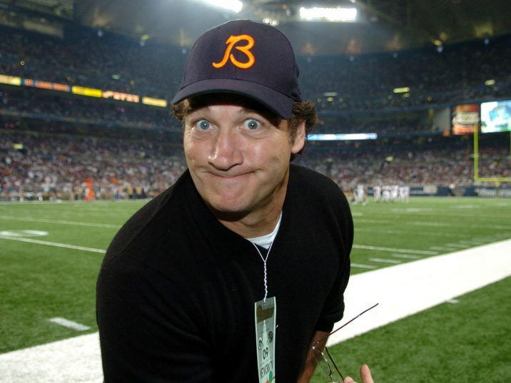 Actor Jim Belushi on the sidelines as the St. Louis Rams host the Chicago Bears on ESPN Monday Night Football Dec. 11, 2006 in St. Louis.