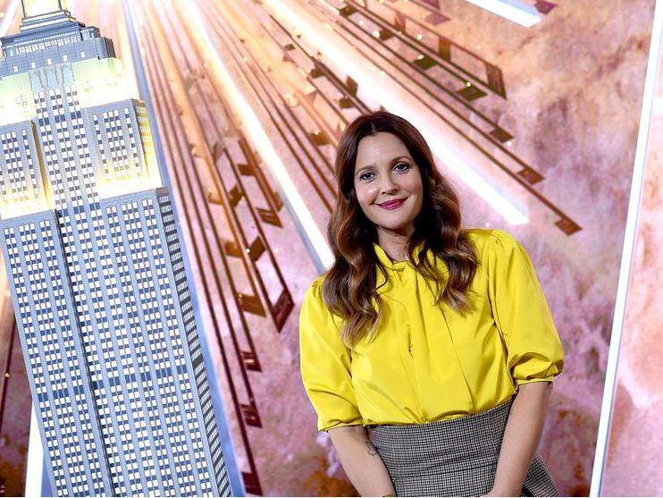 Drew Barrymore celebrates the Launch of The Drew Barrymore Show at The Empire State Building on Sept. 14, 2020 in New York City.